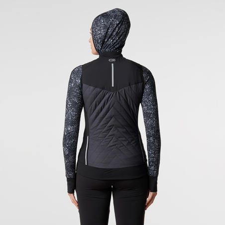 RUN WARM WOMEN'S RUNNING SLEEVELESS VEST - BLACK