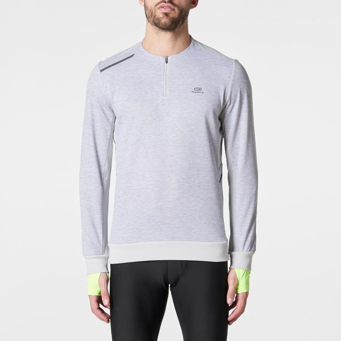 Run Warm+ Men's Running Long-Sleeved T-Shirt - Grey - 1186170