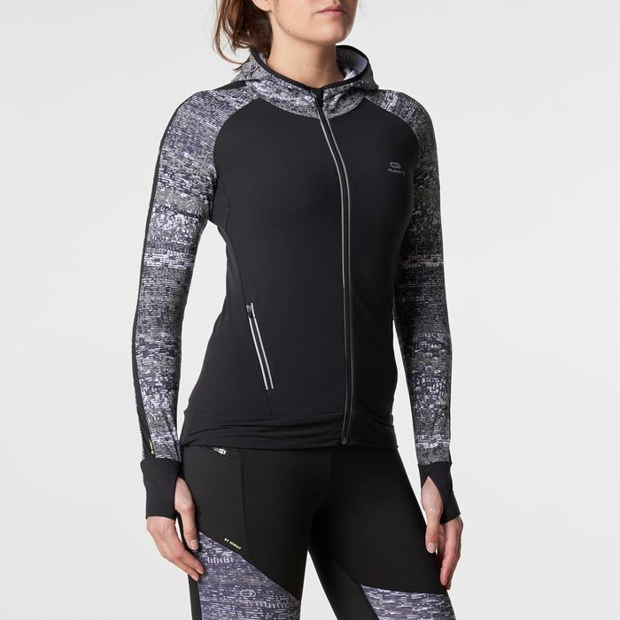 Run Warm Women's Running Jacket Hood - Black  - 1186183