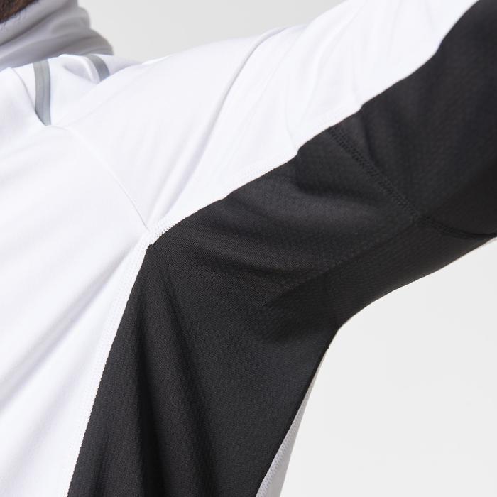 Loopshirt lange mouwen heren Kiprun warm rits wit