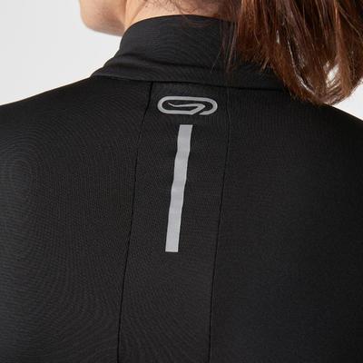 חולצת ריצה ארוכה לנשים RUN WARM - שחור