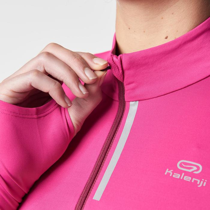 Run Dry + Zip Women's Running Long-Sleeved Shirt - Pink - 1186848
