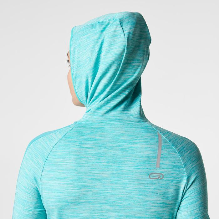 MAILLOT MANCHES LONGUES JOGGING FEMME RUN WARM HOOD CHINE - 1186886