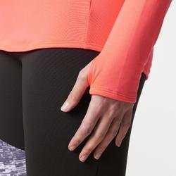 Damesshirt met lange mouwen voor hardlopen Run Warm koraalrood