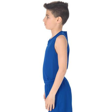 T100 Beginner Basketball Jersey Blue - Boys'/Girls'