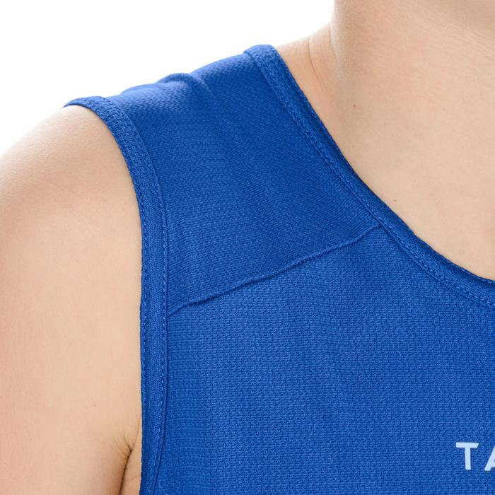 TANK DEBARDEUR T100 DE BASKETBALL GARCON/FILLE POUR DEBUTANT BLEU