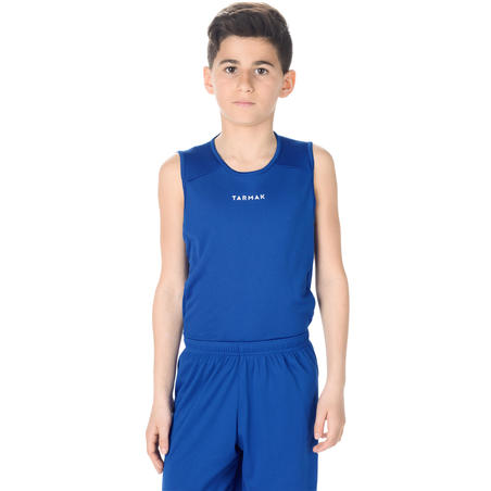 T100 Beginner Basketball Jersey Blue - Boys'/Girls'