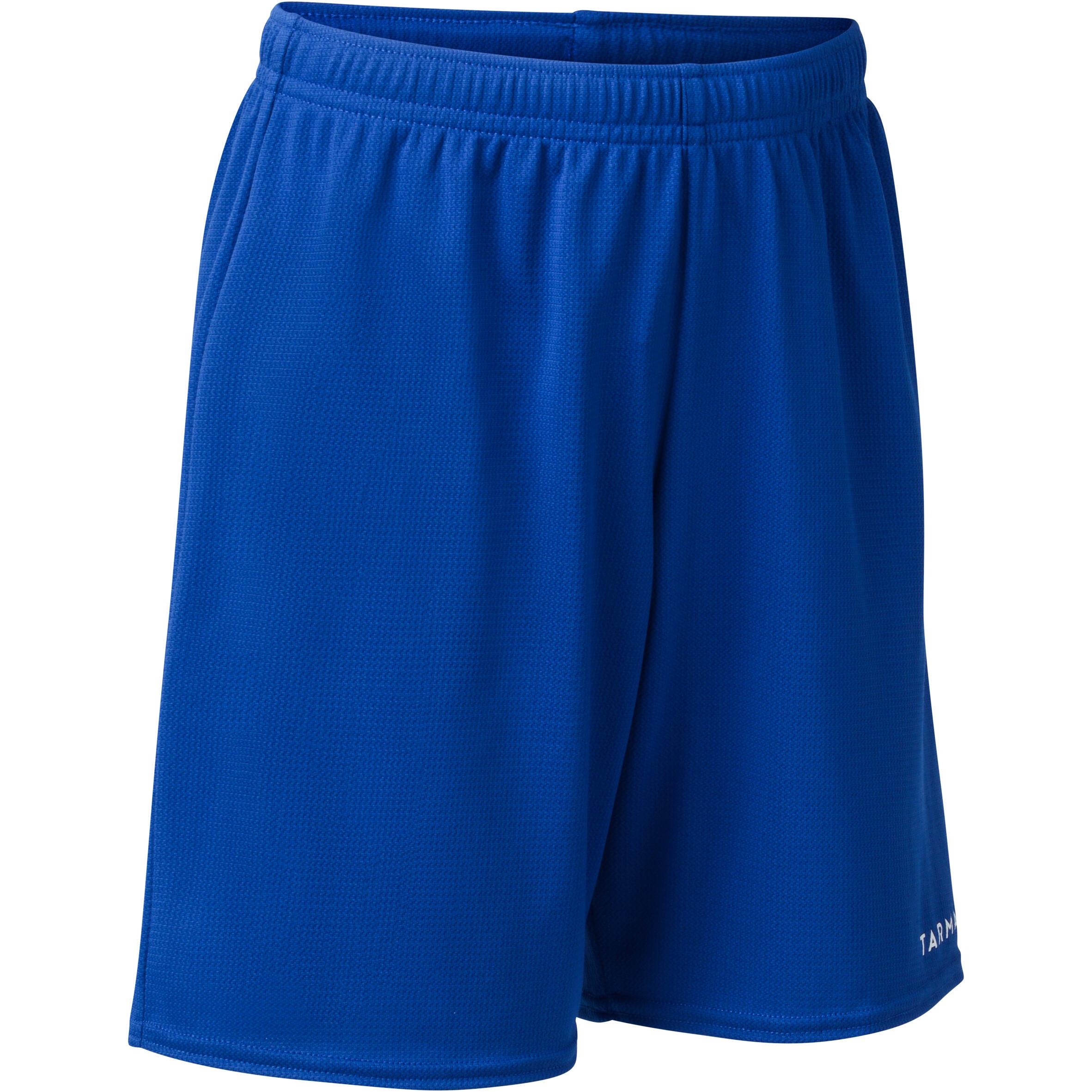 Short de basketball pour garconfille debutante bleu sh100 tarmak