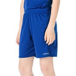 Basketbalshort voor jongens/meisjes beginner blauw SH100