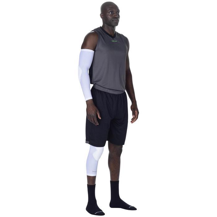 Basketbal kniebeschermer voor volwassenen, voor gevorderden, wit