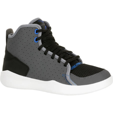 Shield 100 Boys'/Girls' Basketball Shoes For Beginners - Grey