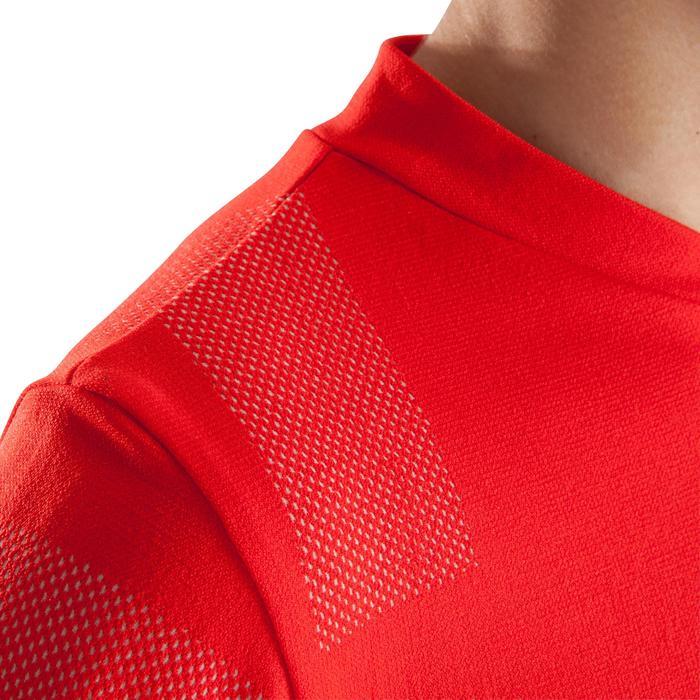 Ondershirt met lange mouwen voetbal voor kinderen Keepdry 500 rood