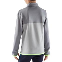 T500 Kids' Football Training Half-Zip Sweatshirt - Light Grey