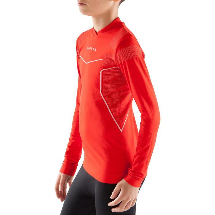 Camiseta térmica transpirable manga larga niños Keepdry 500 rojo