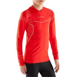Thermoshirt kind Keepdry 500 met lange mouwen rood
