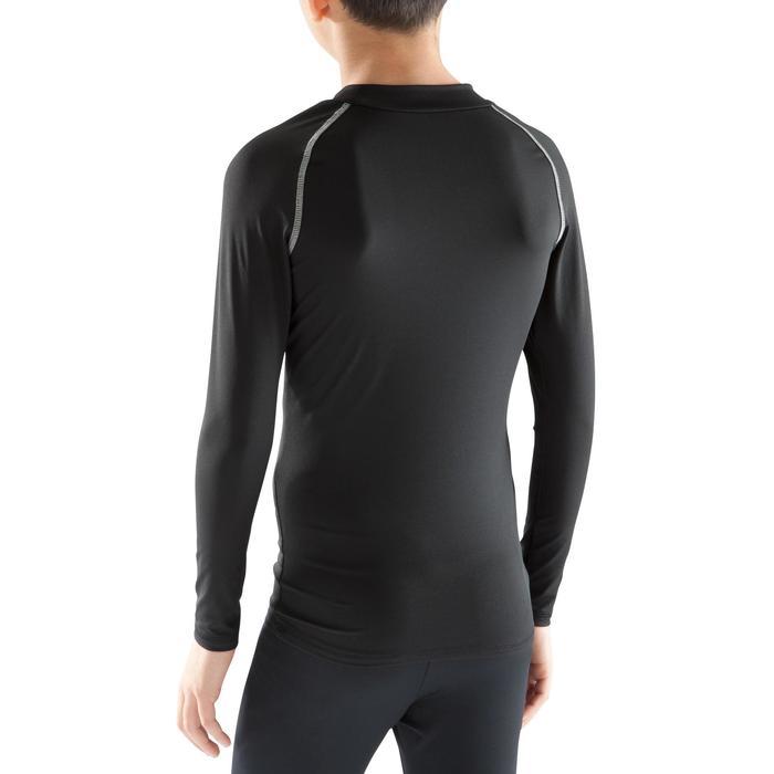 Thermoshirt kind Keepdry 100 met lange mouwen zwart