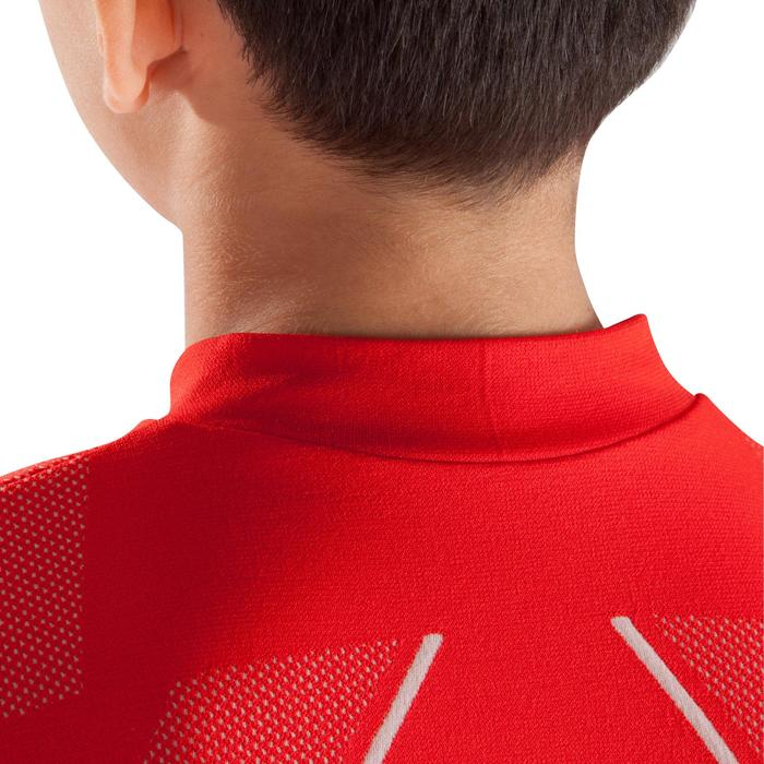 Camiseta Térmica Transpirable Manga Larga Kipsta KDRY500 Rojo