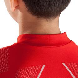 Funktionsshirt langarm Keepdry 500 atmungsaktiv Kinder rot