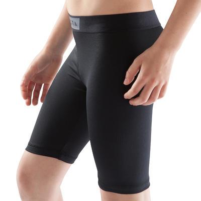 Pantaloneta elástica transpirable niños Keepdry negro