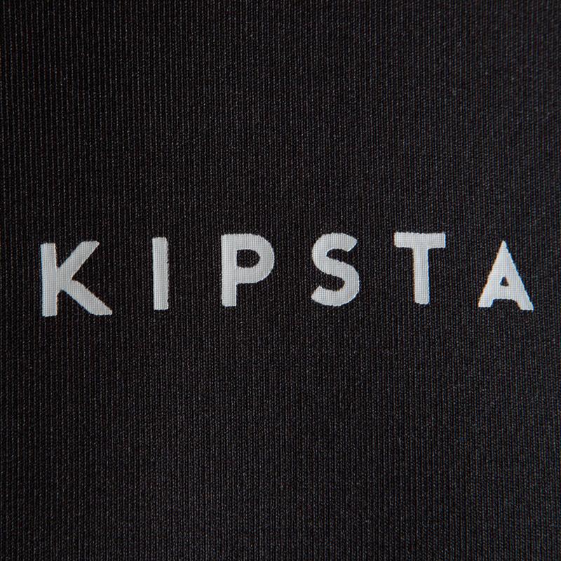 Keepdry 100 Kids' Long-Sleeved Football Base Layer - Plain Black