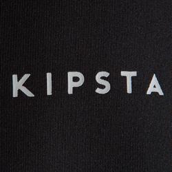 Camiseta térmica de manga larga júnior Keepdry 100 negro liso