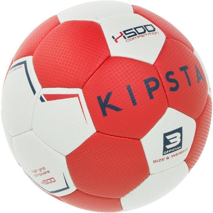 Ballon de handball hybride H500 Taille 2 rouge et - 1187303