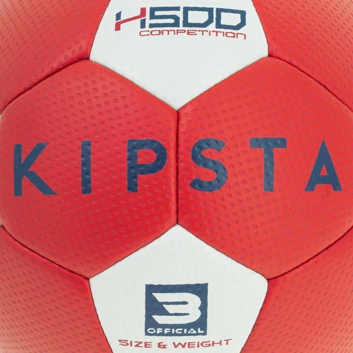 Ballon de handball hybride H500 Taille 2 rouge et - 1187305