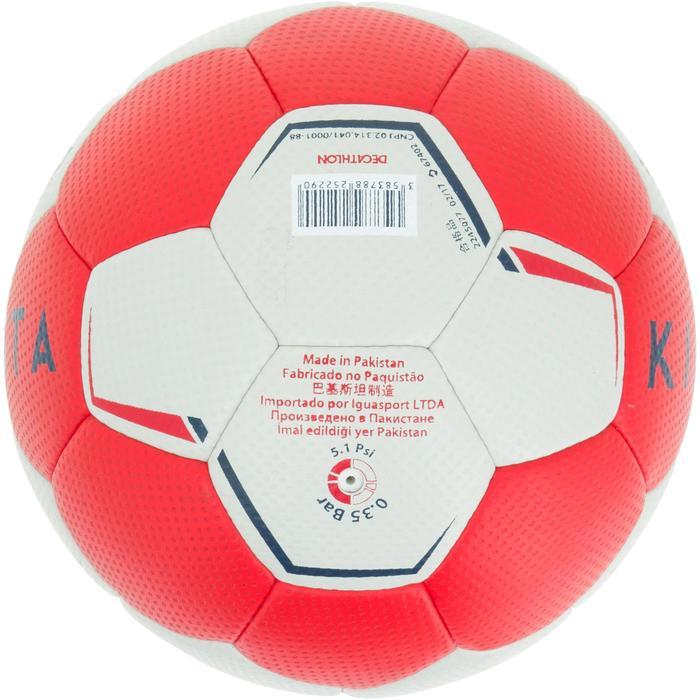 Ballon de handball hybride H500 Taille 2 rouge et - 1187306