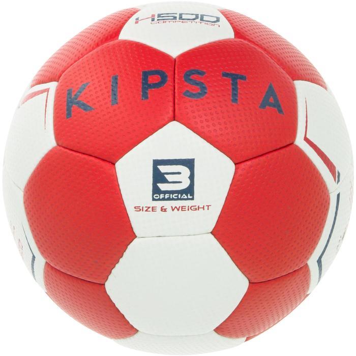 Handbal voor volwassenen H500 hybride maat 3 rood/grijs