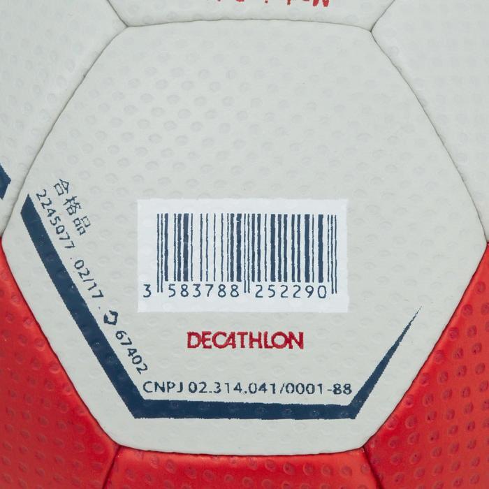 Ballon de handball hybride H500 Taille 2 rouge et - 1187311