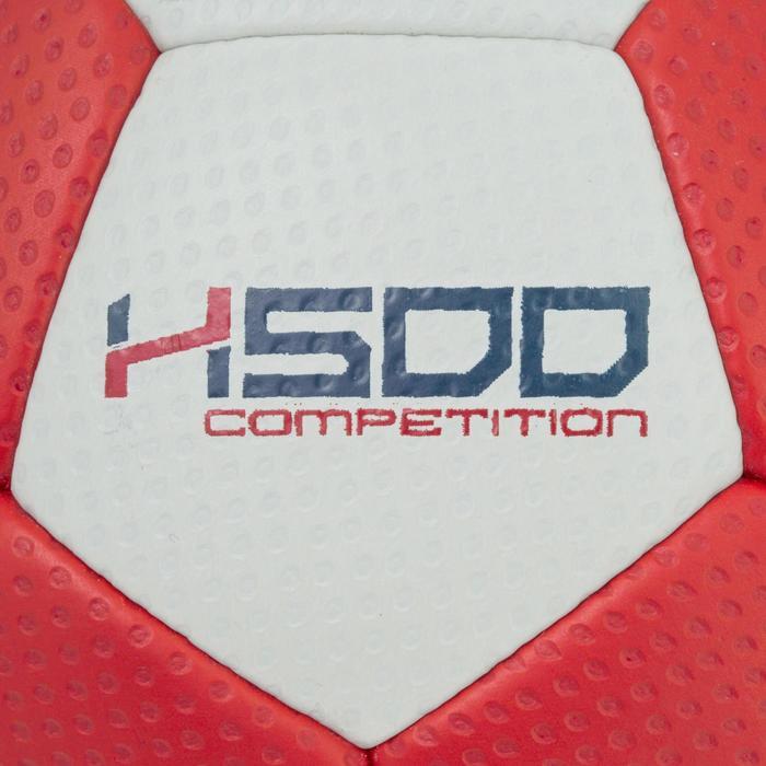 Ballon de handball hybride H500 Taille 2 rouge et - 1187312