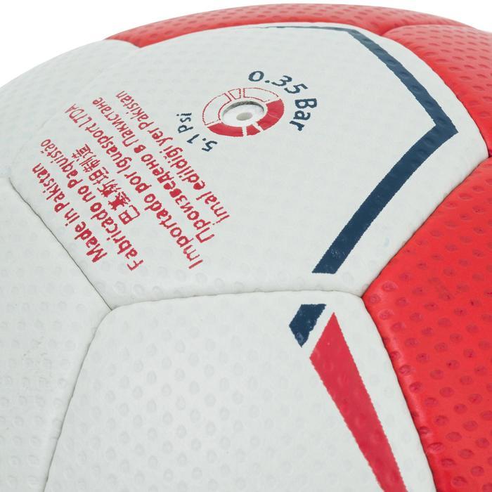 Ballon de handball hybride H500 Taille 2 rouge et - 1187313