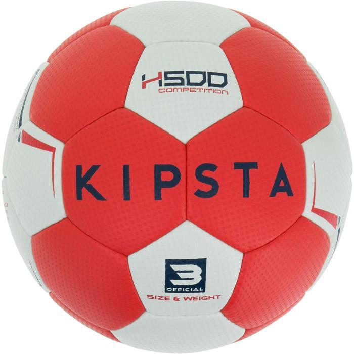 Ballon de handball hybride H500 Taille 2 rouge et - 1187314