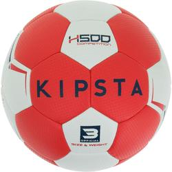 Ballon de handball hybride H500 Taille 2 rouge et