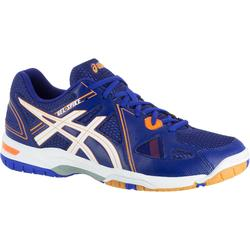 Chaussures de volley-ball homme Asics Gel Spike bleues, blanches et oranges