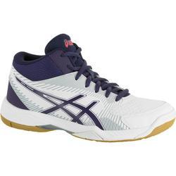 Volleybalschoenen Asics Gel Task voor dames wit en blauw