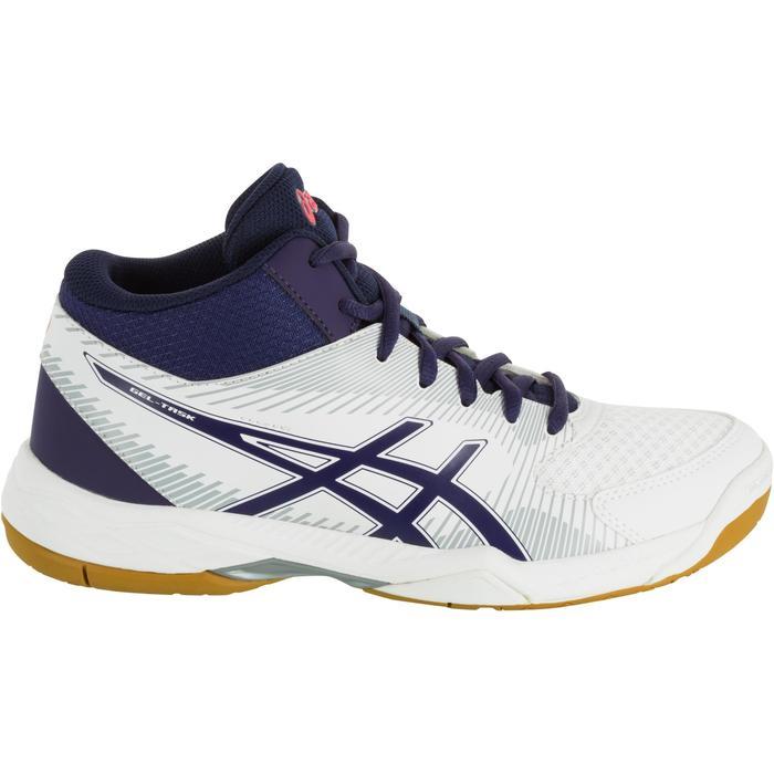 Chaussures de volley-ball femme Asics Gel Task blanches et bleues - 1187341