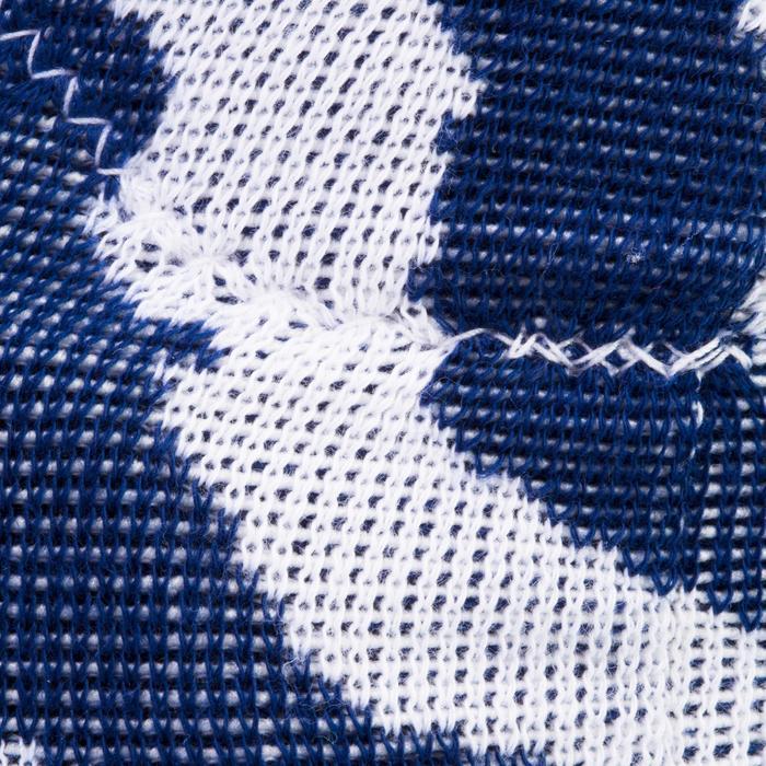 Kniebeschermers V500 voor volleybal wit en marineblauw