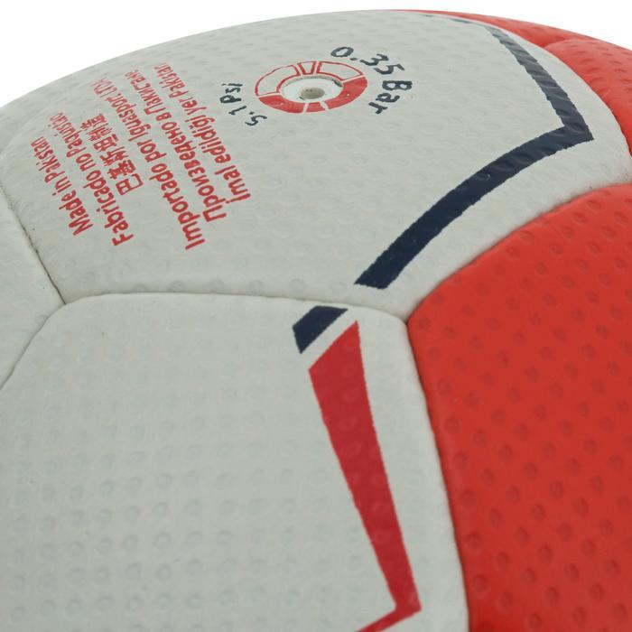 Ballon de handball hybride H500 Taille 2 rouge et - 1187465