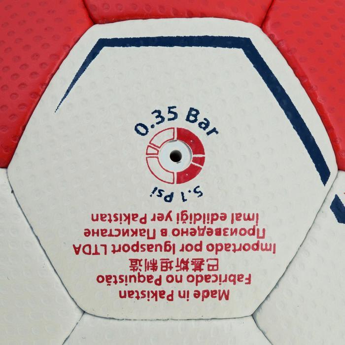 Ballon de handball hybride H500 Taille 2 rouge et - 1187467