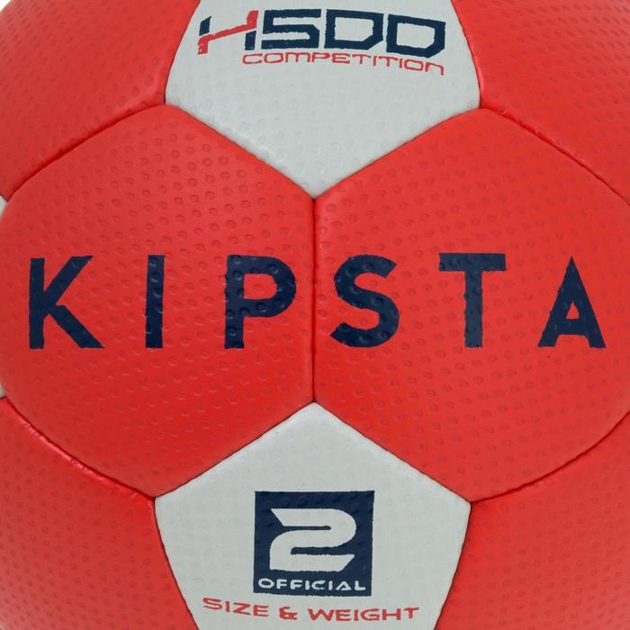 Ballon de handball hybride H500 Taille 2 rouge et - 1187468