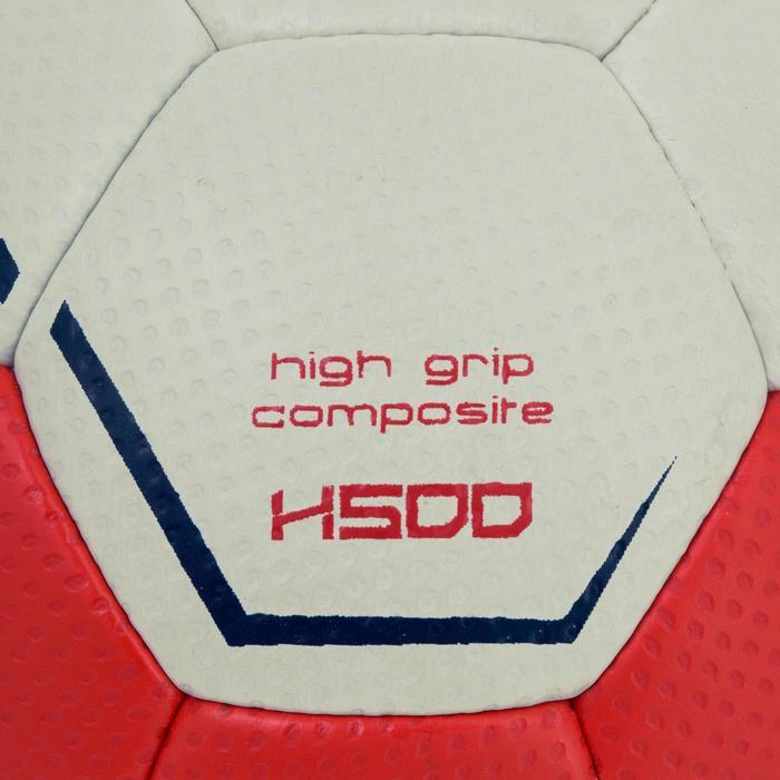 Ballon de handball hybride H500 Taille 2 rouge et - 1187470