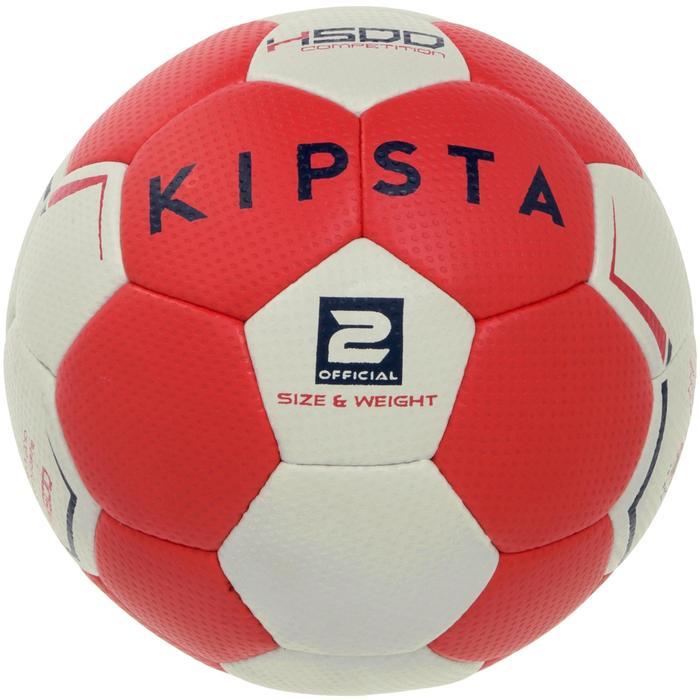 Ballon de handball hybride H500 Taille 2 rouge et - 1187471