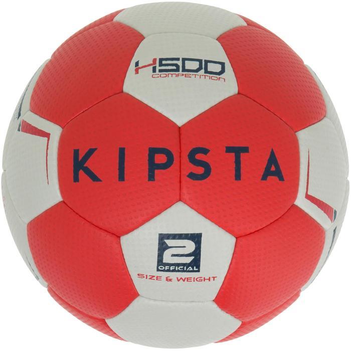 Ballon de handball hybride H500 Taille 2 rouge et - 1187473
