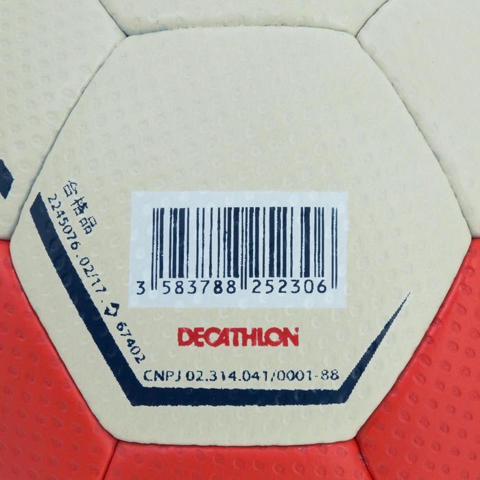 Ballon de handball hybride H500 Taille 2 rouge et - 1187474