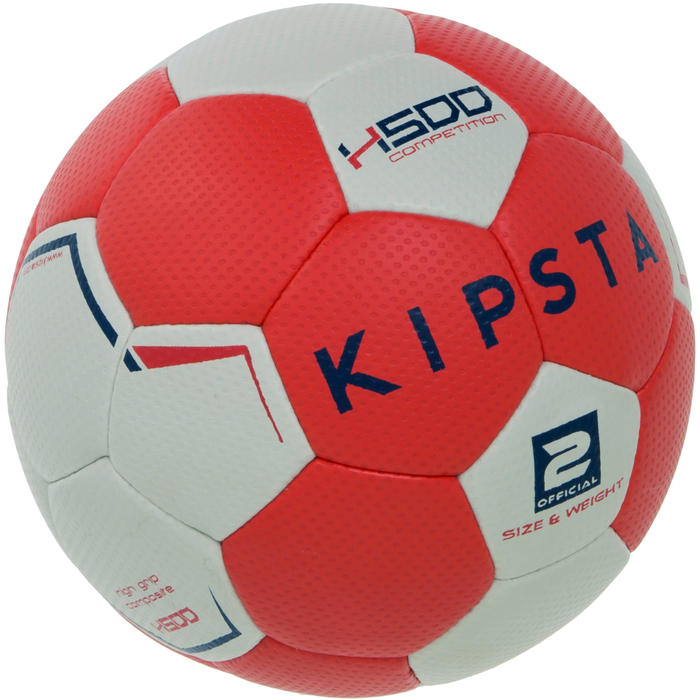 atorka ballon de handball hybride h500 taille 2 rouge et. Black Bedroom Furniture Sets. Home Design Ideas
