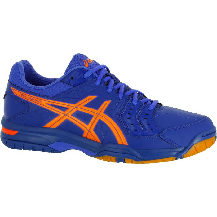 Chaussures de handball adulte Asics Gel Squad bleu et orange 2017/2018 - 1187527