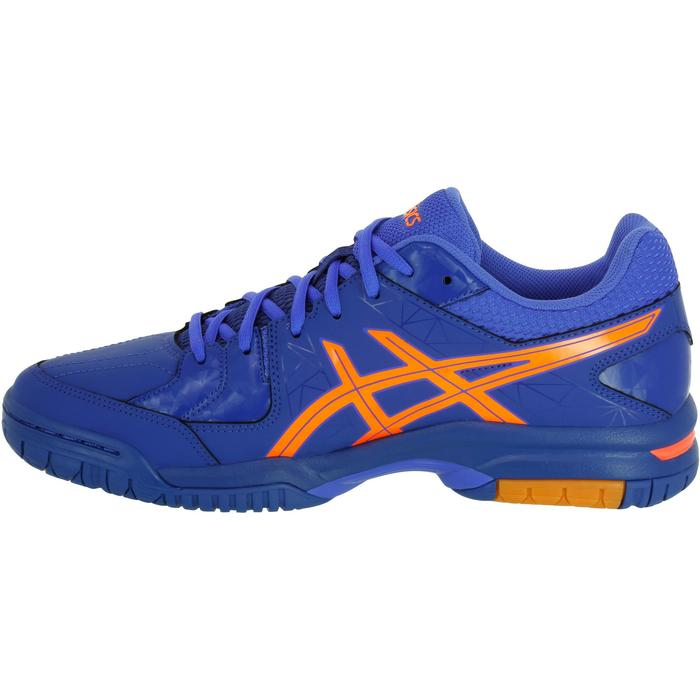 Chaussures de handball adulte Asics Gel Squad bleu et orange 2017/2018 - 1187528