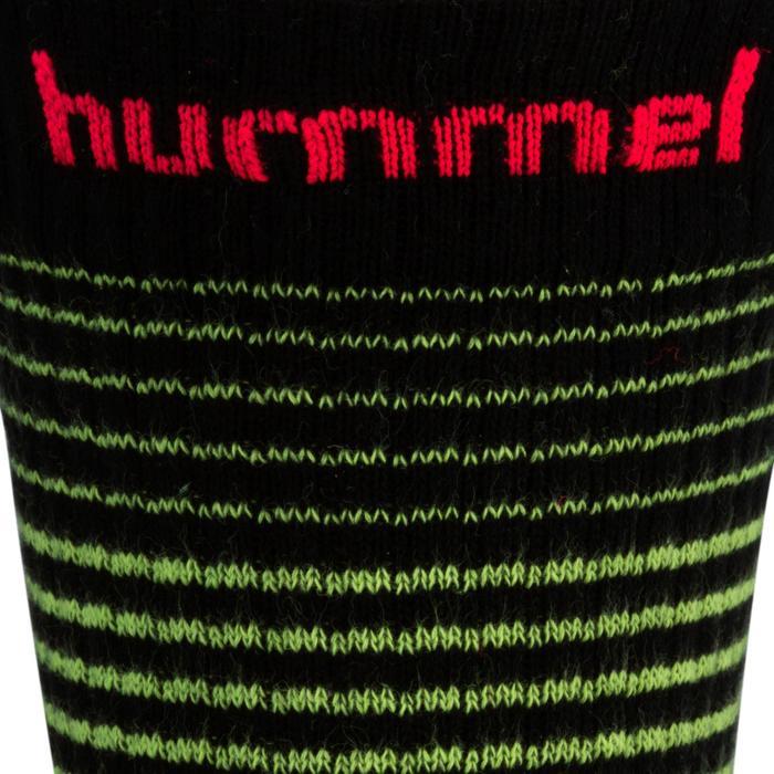 Handbalsokken Hummel zwart/geel en roze chevrons 2017