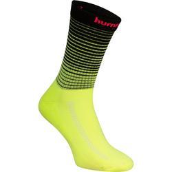 Chaussettes de handball Hummel noir/jaune et chevron rose 2017